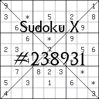 Sudoku X №238931