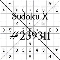 Sudoku X №239311