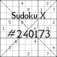 Sudoku X №240173