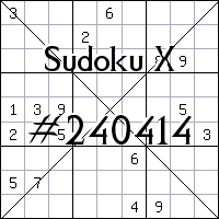 Sudoku X №240414
