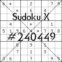Sudoku X №240449