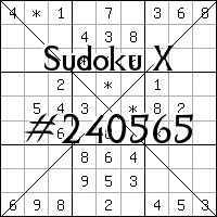 Sudoku X №240565