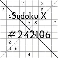 Sudoku X №242106