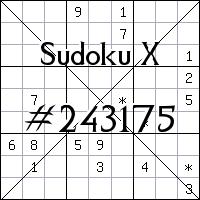 Sudoku X №243175