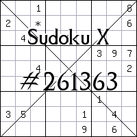 Sudoku X №261363