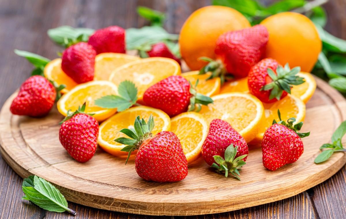 Puzzle Recueillir des puzzles en ligne - Orange and strawberry