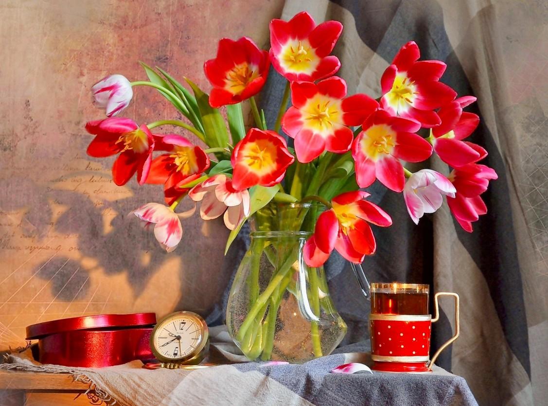 Puzzle Recueillir des puzzles en ligne - A bouquet of tulips