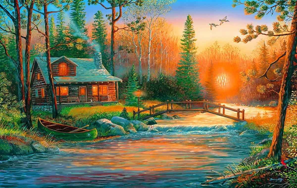 Puzzle Recueillir des puzzles en ligne - The lake house