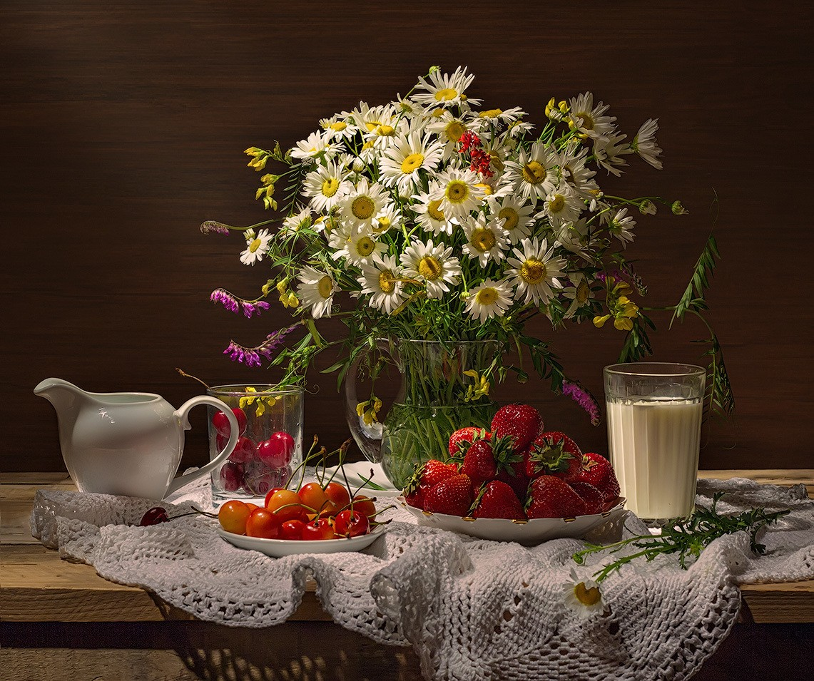 Puzzle Recueillir des puzzles en ligne - Strawberry and milk