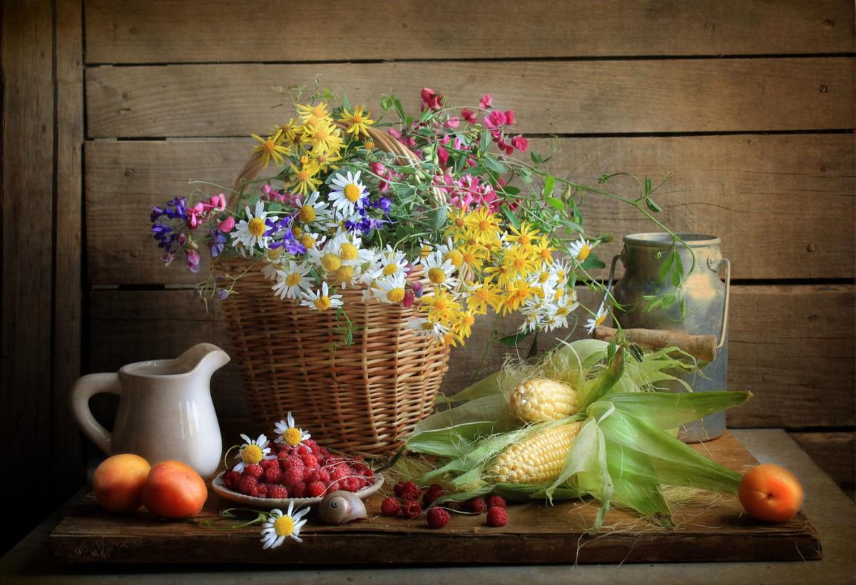 Puzzle Recueillir des puzzles en ligne - Corn and raspberry