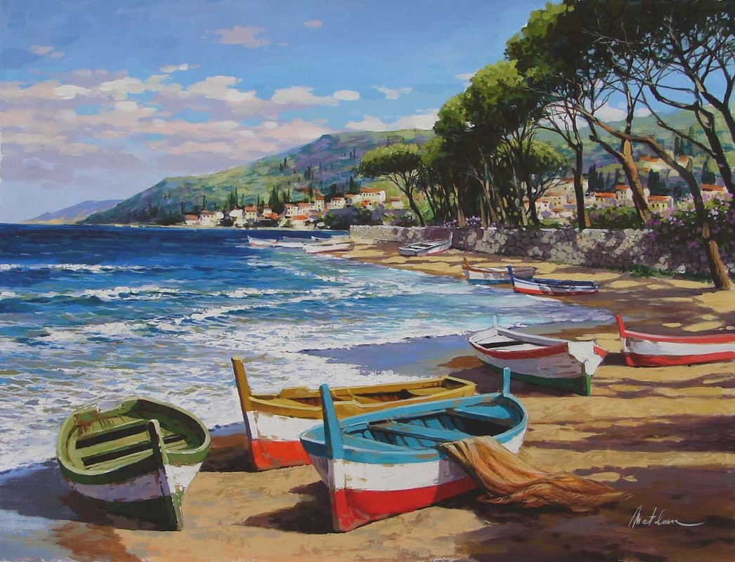 Puzzle Recueillir des puzzles en ligne - Boats on the shore
