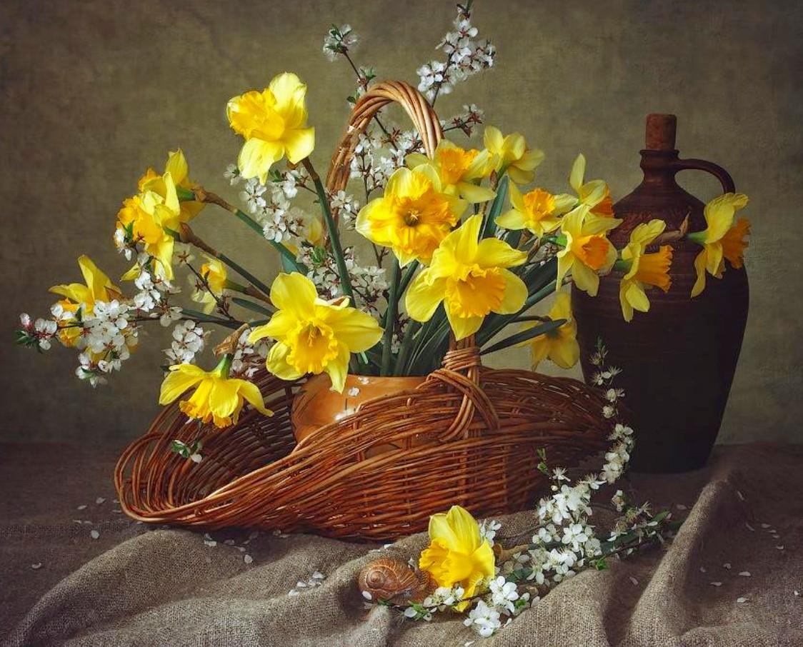 Puzzle Recueillir des puzzles en ligne - Daffodils and plum