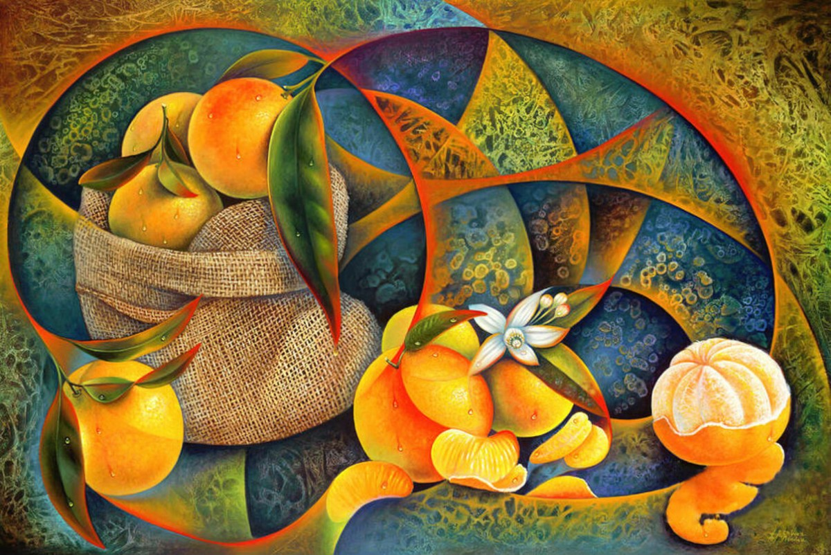 Puzzle Still life with orange