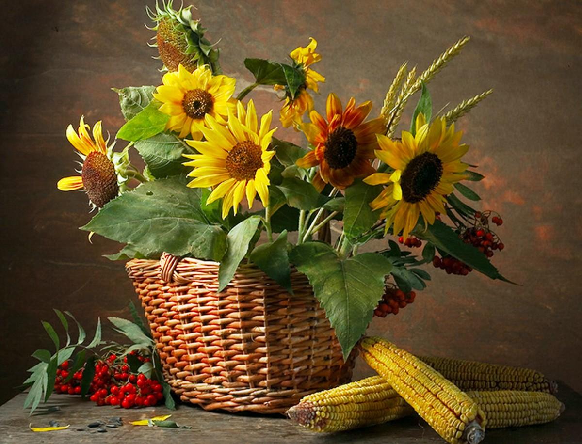 Puzzle Recueillir des puzzles en ligne - Sunflowers in a basket