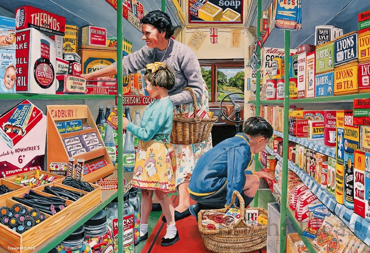 Puzzle Recueillir des puzzles en ligne - Shopping with Grandmother