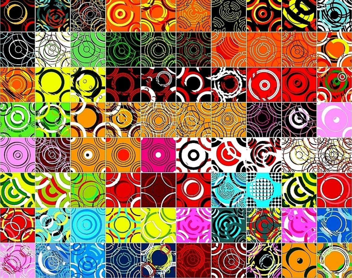 Puzzle Recueillir des puzzles en ligne - Colorful circles