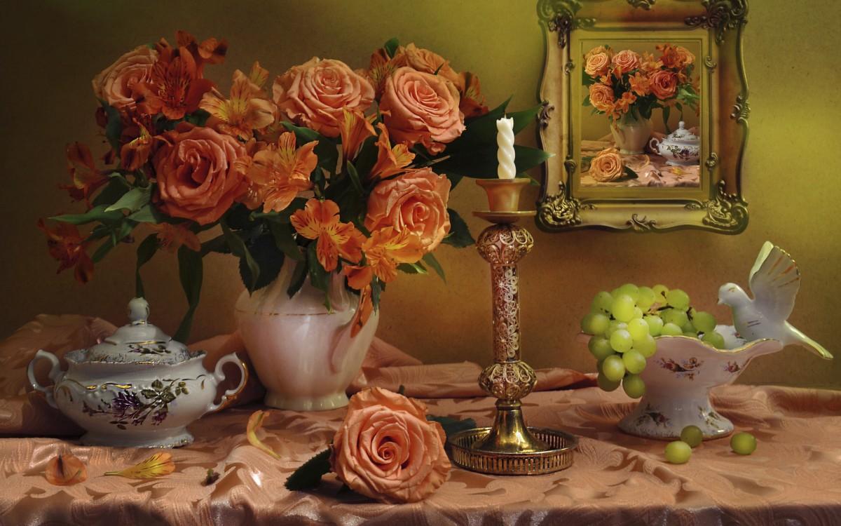 Puzzle Recueillir des puzzles en ligne - Roses and grapes