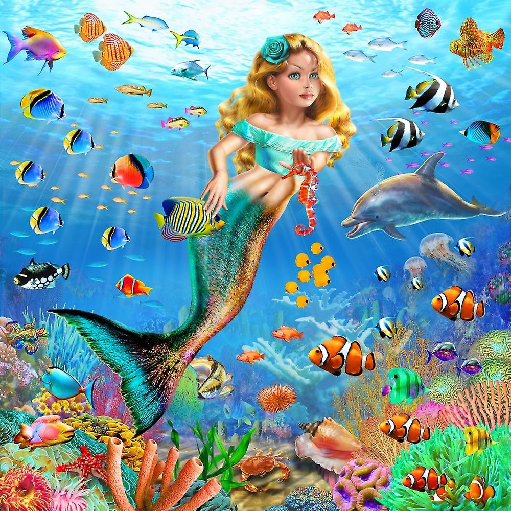 Puzzle Recueillir des puzzles en ligne - Mermaid with fish