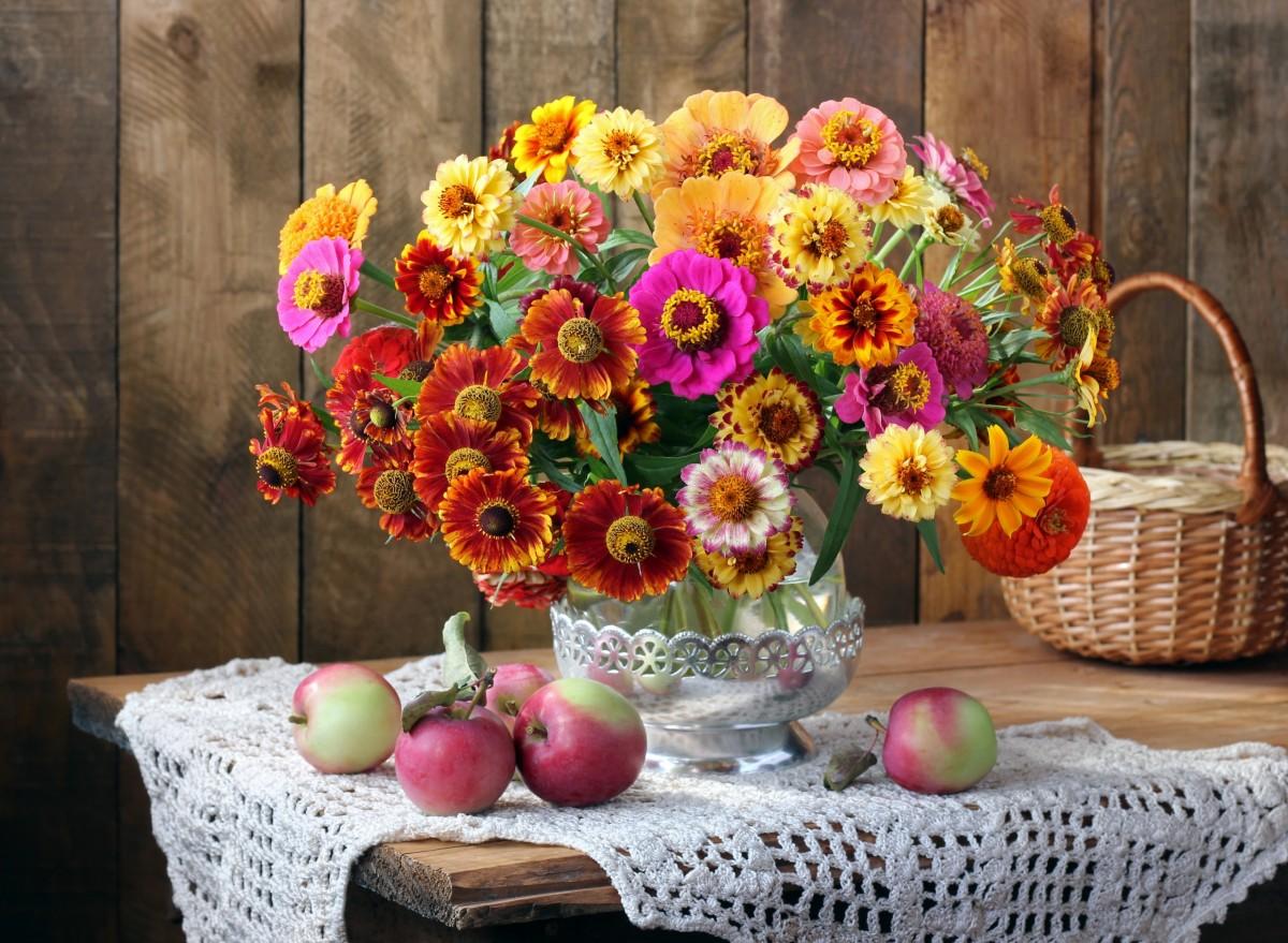 Puzzle Recueillir des puzzles en ligne - Zinnias in the bouquet