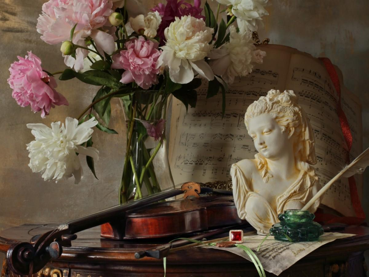 Puzzle Recueillir des puzzles en ligne - Flowers music