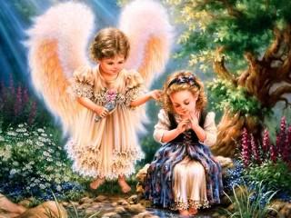 Собирать пазл Guardian angel онлайн