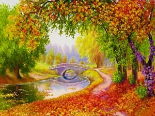 Собирать пазл Scarlet autumn онлайн