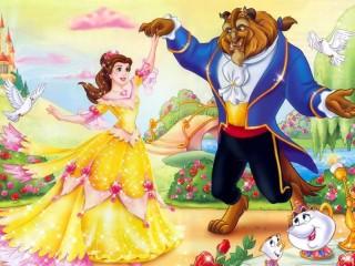 Собирать пазл Belle and Beast онлайн