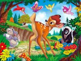 Собирать пазл Bambi онлайн