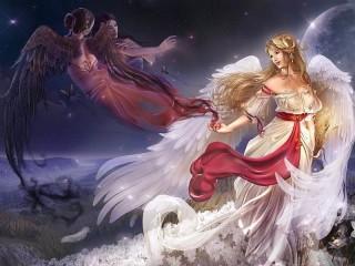 Собирать пазл The goddess and angels онлайн