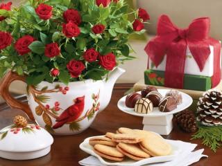 Собирать пазл Bouquet of red roses онлайн