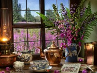 Собирать пазл Bouquet with fern онлайн