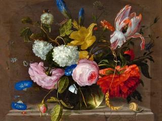 Собирать пазл Bouquet in a vase онлайн