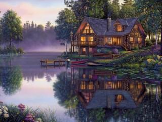 Собирать пазл The Lake House  1 онлайн