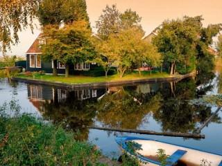 Собирать пазл Home island pond онлайн