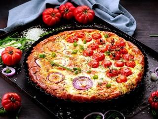 Собирать пазл Double pizza онлайн