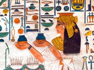 Собирать пазл Egyptian fresco онлайн