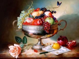 Собирать пазл Fruit and flower онлайн