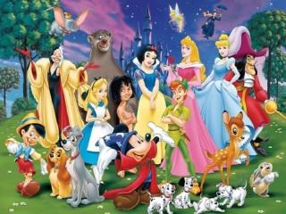Собирать пазл Disney characters онлайн