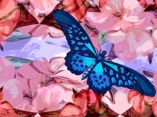 Собирать пазл Blue butterfly онлайн
