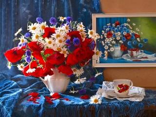 Собирать пазл July flowers онлайн