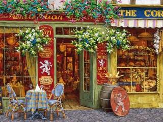 Собирать пазл Kafe Beliy lev онлайн