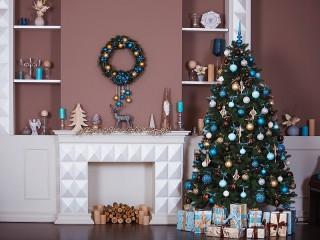 Собирать пазл Fireplace and fir онлайн