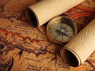 Собирать пазл Karti i kompas онлайн