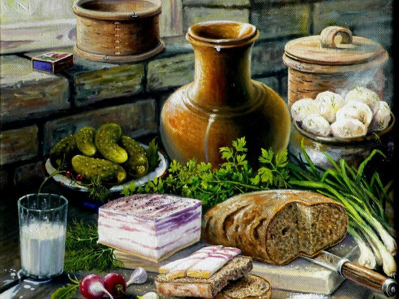 Puzzle Recueillir des puzzles en ligne - Cossacks breakfast