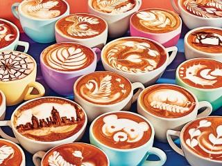 Собирать пазл Coffee art онлайн