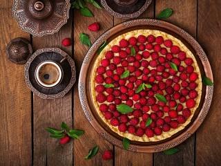 Собирать пазл Coffee and pie онлайн