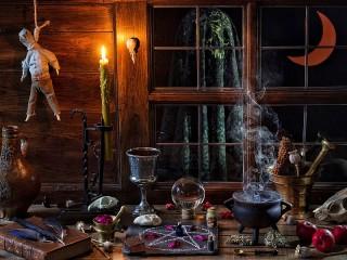 Собирать пазл Room witch онлайн