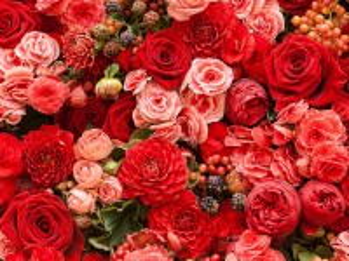 Собирать пазл Red bouquet онлайн