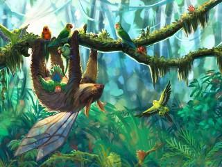 Собирать пазл Winged sloth онлайн