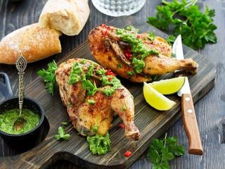 Собирать пазл Chicken with pesto онлайн
